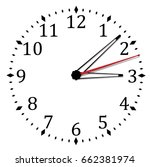 simple black and white clock... | Shutterstock .eps vector #662381974