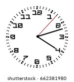 simple black and white clock... | Shutterstock .eps vector #662381980