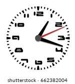 simple black and white clock... | Shutterstock .eps vector #662382004
