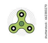 spinner   antistress toy for... | Shutterstock .eps vector #662383270