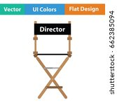 director chair icon. flat color ...