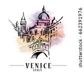 venice vector illustration made ... | Shutterstock .eps vector #662391976