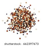 close up of uncooked quinoa ... | Shutterstock . vector #662397673