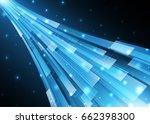 technology digital future... | Shutterstock .eps vector #662398300