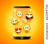 icons for emoji from the phone... | Shutterstock .eps vector #662399734