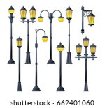 vector illustration of old city ... | Shutterstock .eps vector #662401060