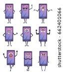funny cartoon character.... | Shutterstock .eps vector #662401066
