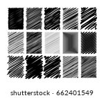set of different drawn scribble ... | Shutterstock .eps vector #662401549