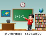 vector illustration of cartoon... | Shutterstock .eps vector #662410570