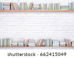 Shelves With Colorful Books On...
