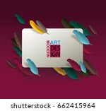 vector background with paper... | Shutterstock .eps vector #662415964