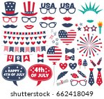 4th of july design elements and ... | Shutterstock .eps vector #662418049