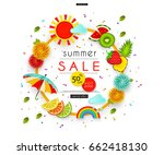 summer sale. stylized... | Shutterstock .eps vector #662418130