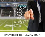 hand of a american football...   Shutterstock . vector #662424874