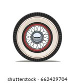 Vintage Car Wheel With Spoke ...