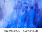 abstract blue watercolor... | Shutterstock . vector #662434168