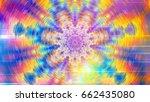 meditation. mandala rotation... | Shutterstock . vector #662435080