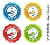 dermatologically tested... | Shutterstock .eps vector #662436100