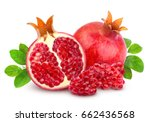 pomegranate isolated on white... | Shutterstock . vector #662436568