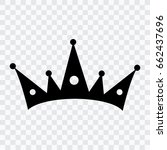 crown icon on a transparent... | Shutterstock .eps vector #662437696