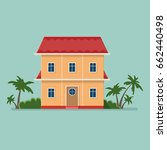 graphic decorative house ...   Shutterstock .eps vector #662440498