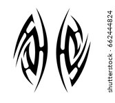 tribal tattoos. tattoo tribal... | Shutterstock .eps vector #662444824
