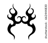 tribal tattoo art designs.... | Shutterstock .eps vector #662444830