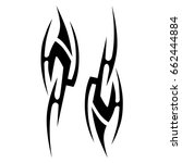 tribal tattoos. tattoo tribal... | Shutterstock .eps vector #662444884