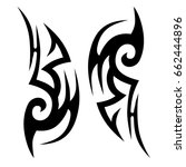 tribal pattern tattoo vector... | Shutterstock .eps vector #662444896