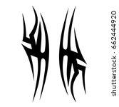 tattoo tribal vector design.... | Shutterstock .eps vector #662444920
