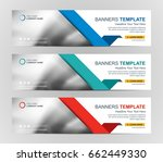 abstract web banner design... | Shutterstock .eps vector #662449330