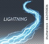 lightning and thunder bolt or... | Shutterstock .eps vector #662450836