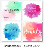 cards design template with...   Shutterstock .eps vector #662452270