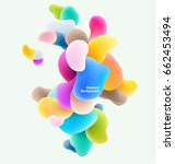 plastic colorful shapes.... | Shutterstock .eps vector #662453494