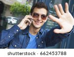 young man the bar with your... | Shutterstock . vector #662453788