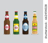 beer bottles set with label... | Shutterstock .eps vector #662454028