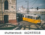 tram goes along one of the... | Shutterstock . vector #662455018