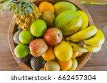 fruit bowl   apple  banana  ... | Shutterstock . vector #662457304
