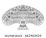 decorative ornamental tree in... | Shutterstock .eps vector #662463424