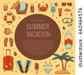 summer vacation beach icon...   Shutterstock .eps vector #662464576