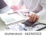 healthcare costs and fees... | Shutterstock . vector #662465323