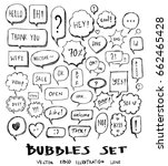 bubble doodle icon line vector... | Shutterstock .eps vector #662465428