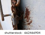 old keys rusted iron doors with ... | Shutterstock . vector #662466904
