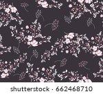 seamless floral pattern | Shutterstock .eps vector #662468710