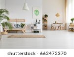 nature and wood in modern home... | Shutterstock . vector #662472370