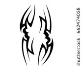 tribal tattoo art designs.... | Shutterstock .eps vector #662474038