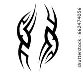 tattoo tribal vector design.... | Shutterstock .eps vector #662474056