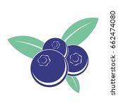blueberry icon | Shutterstock .eps vector #662474080