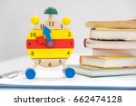 back to school background with... | Shutterstock . vector #662474128