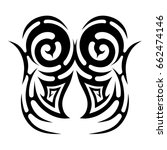 tattoo tribal vector design.... | Shutterstock .eps vector #662474146